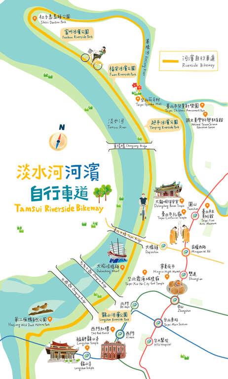 淡水河河河濱自行車道