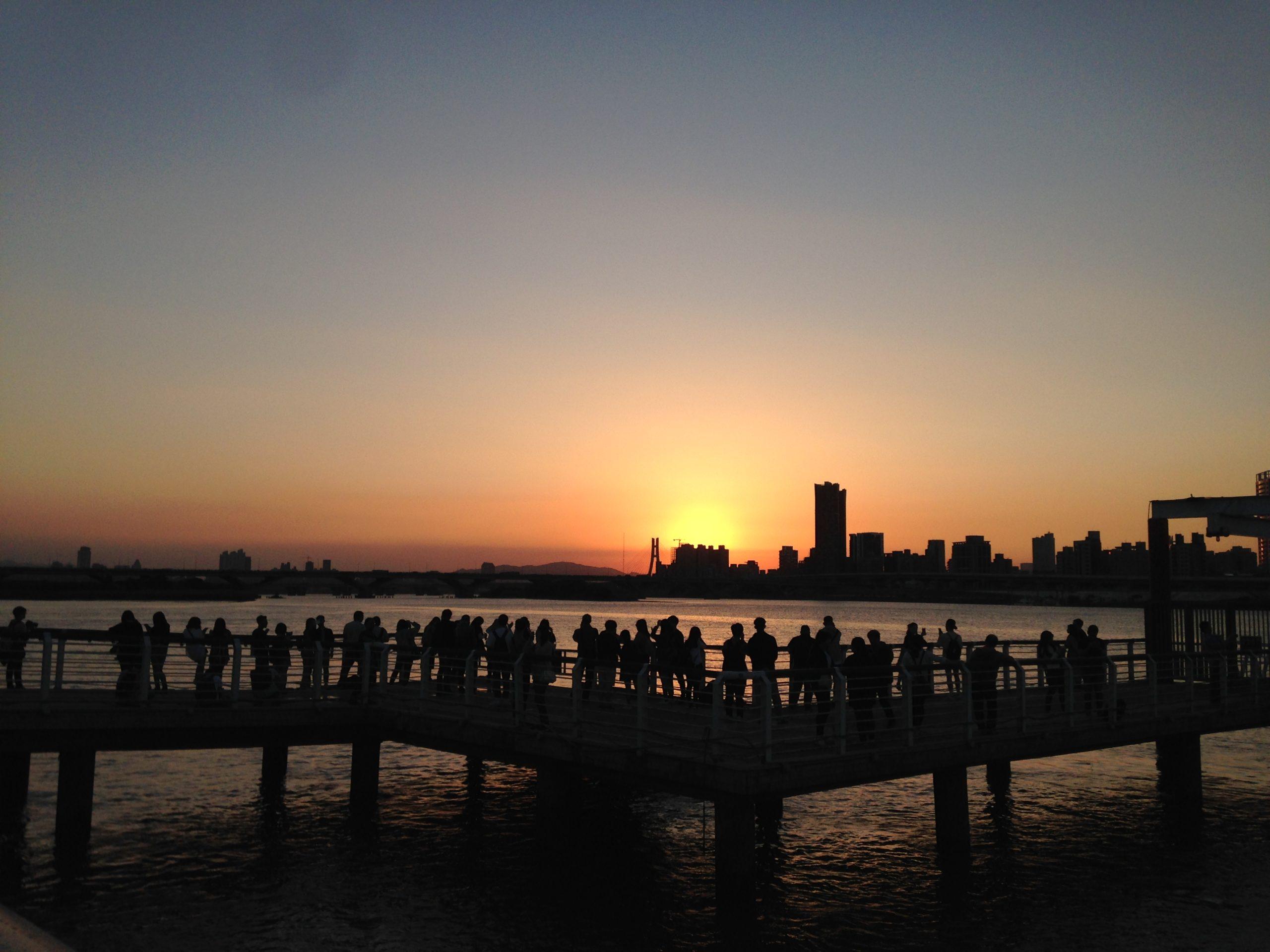 淡水河濱自行車道夕陽