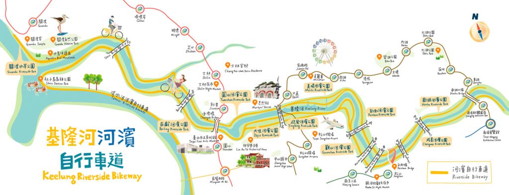 基隆河自行車道經典路線圖