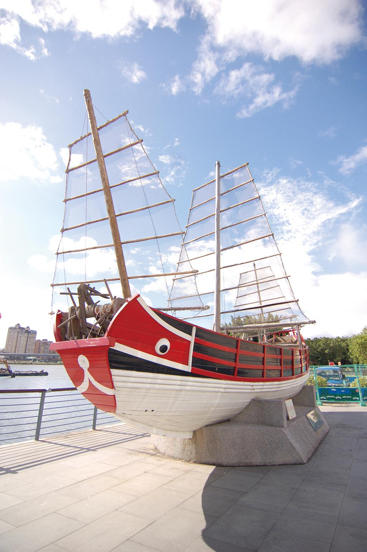 大稻埕碼頭唐山帆船